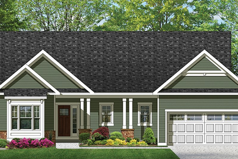 Architectural House Design - Ranch Exterior - Front Elevation Plan #1010-98