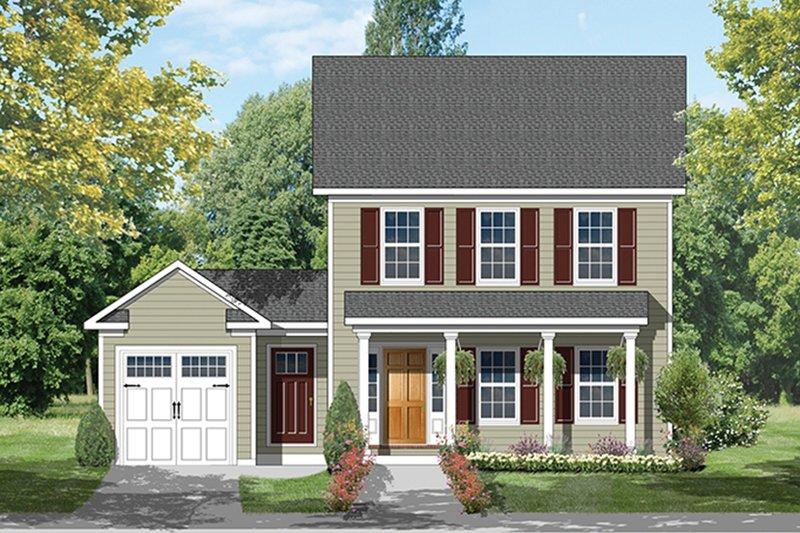 Colonial Exterior - Front Elevation Plan #1053-63 - Houseplans.com