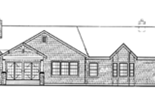 House Plan Design - Craftsman Exterior - Rear Elevation Plan #314-270