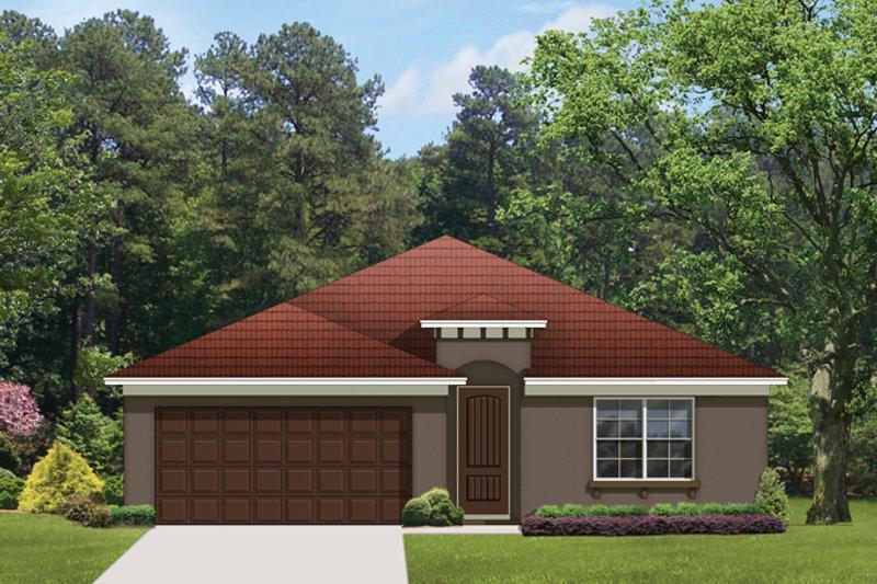 House Plan Design - Mediterranean Exterior - Front Elevation Plan #1058-55