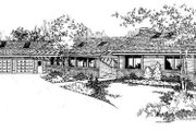 Contemporary Style House Plan - 4 Beds 2.5 Baths 2679 Sq/Ft Plan #60-334 Exterior - Front Elevation