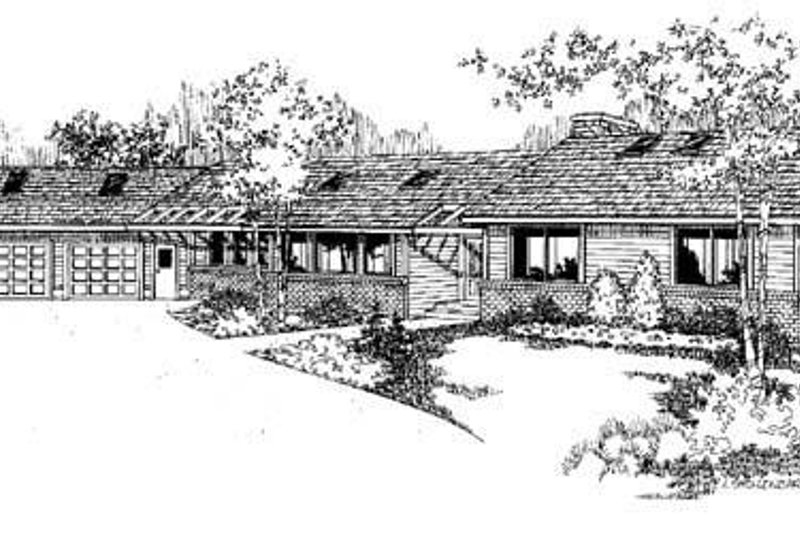 Dream House Plan - Contemporary Exterior - Front Elevation Plan #60-334