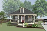Cottage Style House Plan - 3 Beds 2 Baths 1056 Sq/Ft Plan #79-127