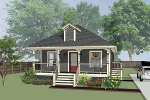 House Plan Design - Cottage Exterior - Front Elevation Plan #79-127
