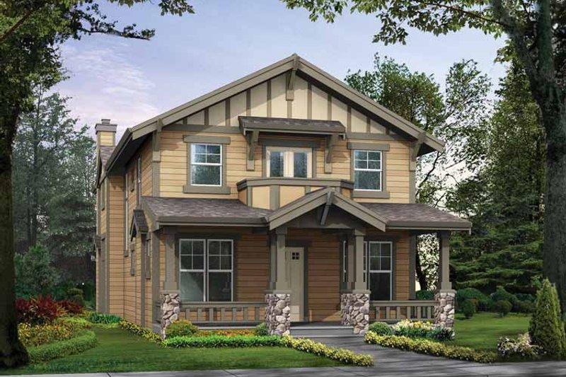 Craftsman Exterior - Front Elevation Plan #132-302