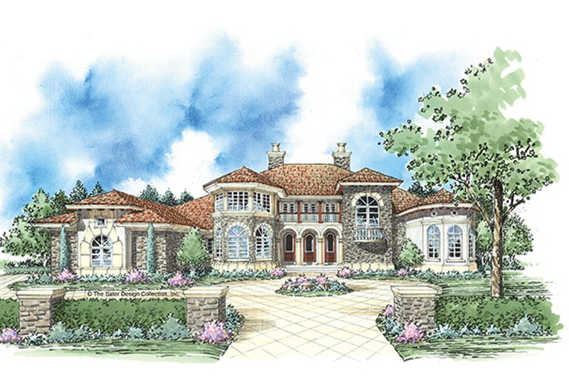 Architectural House Design - Mediterranean Exterior - Front Elevation Plan #930-343