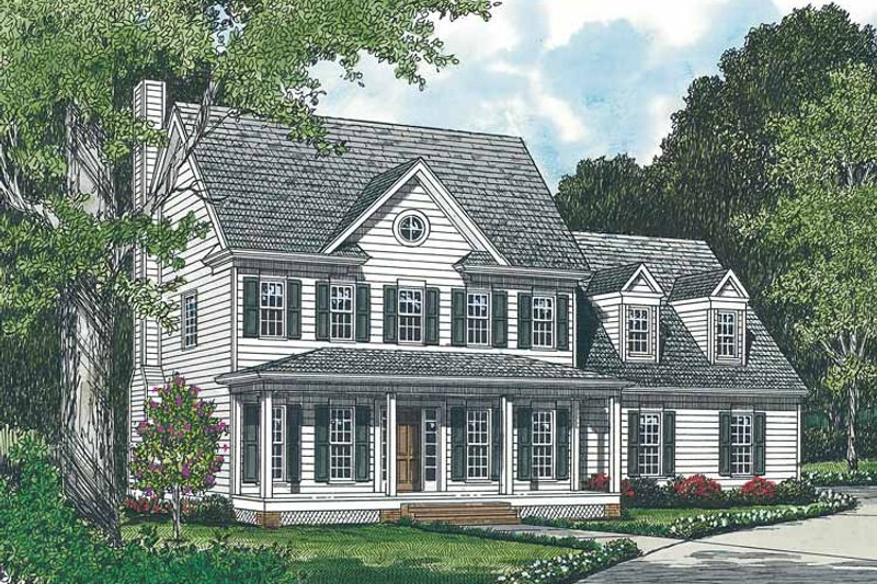 Classical Exterior - Front Elevation Plan #453-129