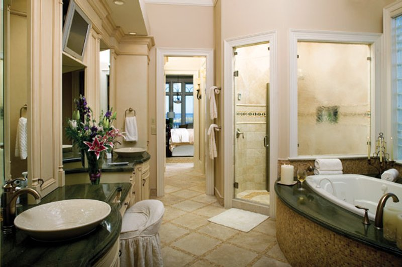 Mediterranean Interior - Master Bathroom Plan #929-900 - Houseplans.com