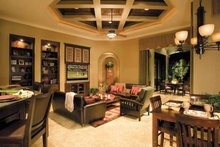 Architectural House Design - Mediterranean Interior - Family Room Plan #930-315