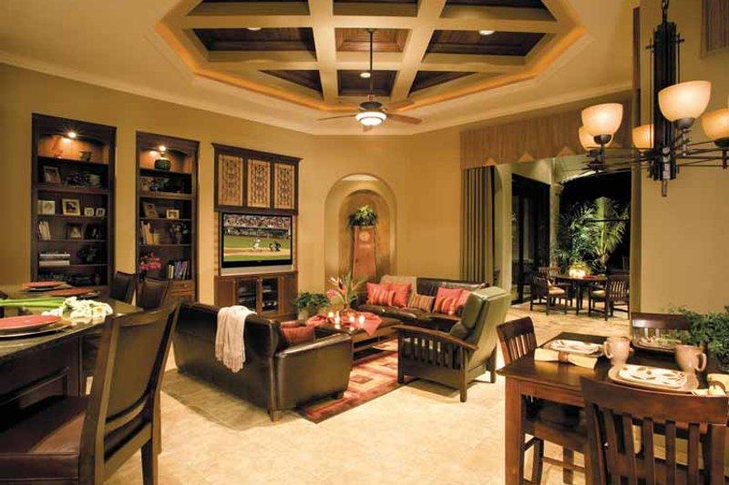 Mediterranean Interior - Family Room Plan #930-315 - Houseplans.com