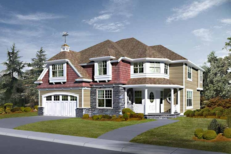 Country Exterior - Front Elevation Plan #132-456