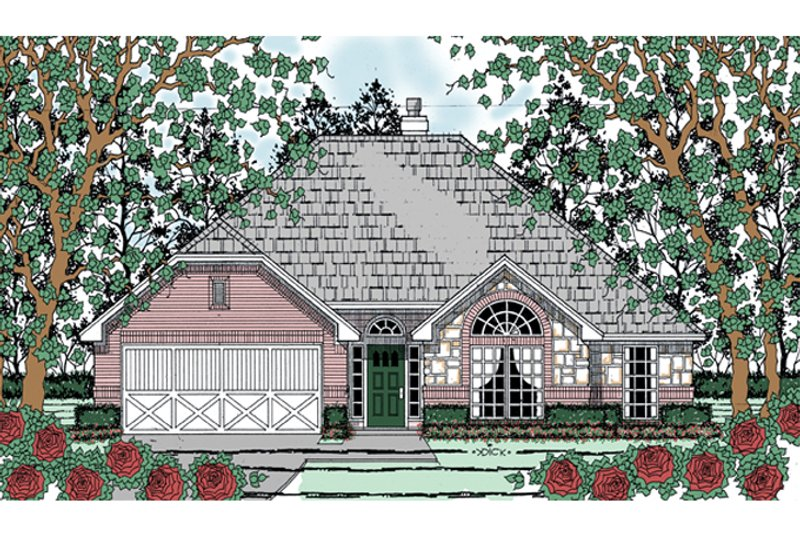 Traditional Exterior - Front Elevation Plan #42-724 - Houseplans.com