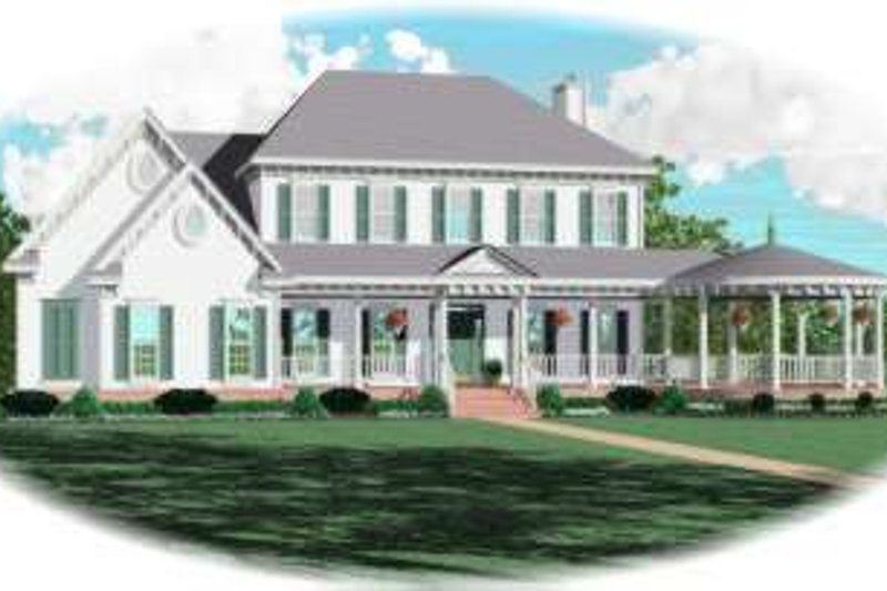 European Style House Plan - 4 Beds 4 Baths 3996 Sq/Ft Plan #81-1568 Exterior - Front Elevation