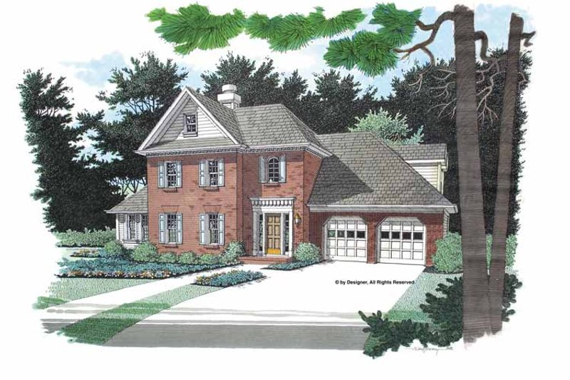 Colonial Exterior - Front Elevation Plan #56-665