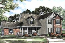 House Plan Design - Country Exterior - Front Elevation Plan #17-3071