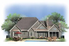 Country Exterior - Rear Elevation Plan #929-873