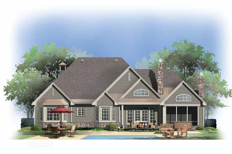 Country Exterior - Rear Elevation Plan #929-873 - Houseplans.com