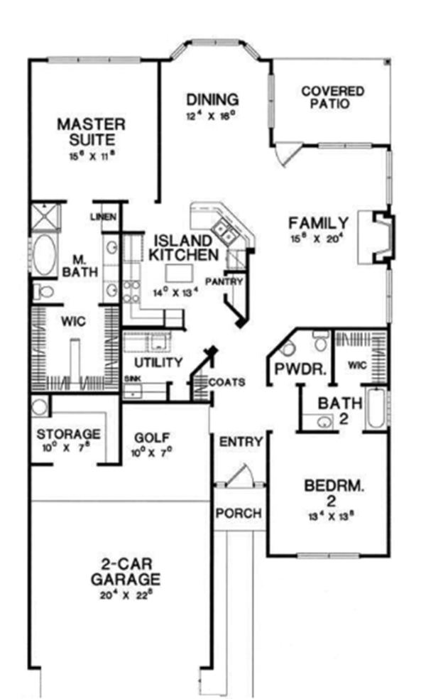 Floor Plan - Main Floor Plan Plan #472-67