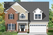 Colonial Exterior - Front Elevation Plan #1053-45