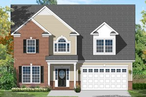 Architectural House Design - Colonial Exterior - Front Elevation Plan #1053-45