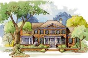 Colonial Style House Plan - 5 Beds 6 Baths 5134 Sq/Ft Plan #429-49 Exterior - Front Elevation