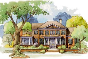 Dream House Plan - Colonial Exterior - Front Elevation Plan #429-49