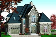 Dream House Plan - European Exterior - Front Elevation Plan #23-364