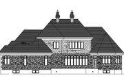 European Style House Plan - 3 Beds 3 Baths 3536 Sq/Ft Plan #138-251 Exterior - Rear Elevation