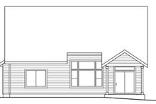 Home Plan - Craftsman Exterior - Rear Elevation Plan #124-820