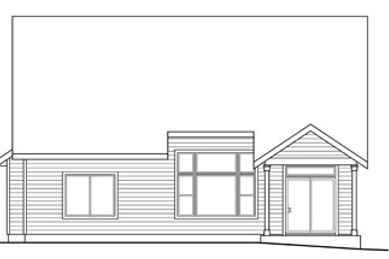 Craftsman Exterior - Rear Elevation Plan #124-820 - Houseplans.com