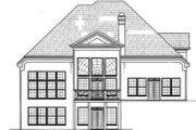 European Style House Plan - 4 Beds 3.5 Baths 2707 Sq/Ft Plan #119-120 Exterior - Rear Elevation