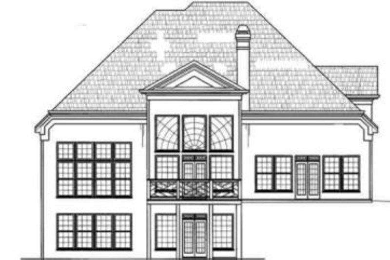 European Exterior - Rear Elevation Plan #119-120 - Houseplans.com
