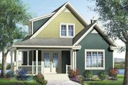 Traditional Style House Plan - 1 Beds 1.5 Baths 1364 Sq/Ft Plan #25-4202 Exterior - Front Elevation