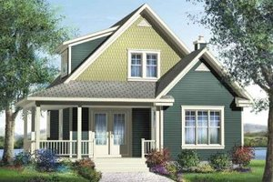 Traditional Exterior - Front Elevation Plan #25-4202