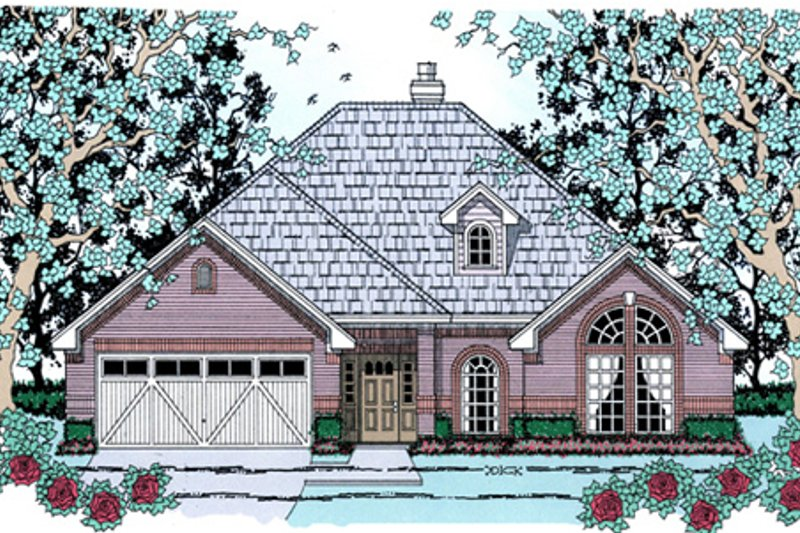 Traditional Exterior - Front Elevation Plan #42-389