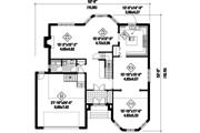 European Style House Plan - 4 Beds 2 Baths 3385 Sq/Ft Plan #25-4692 Floor Plan - Main Floor Plan
