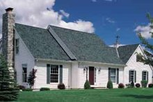 Colonial Exterior - Front Elevation Plan #72-442
