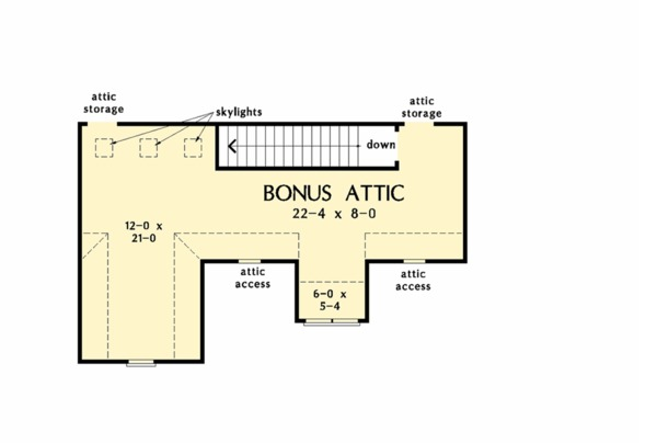 House Plan Design - Unfinished Attic