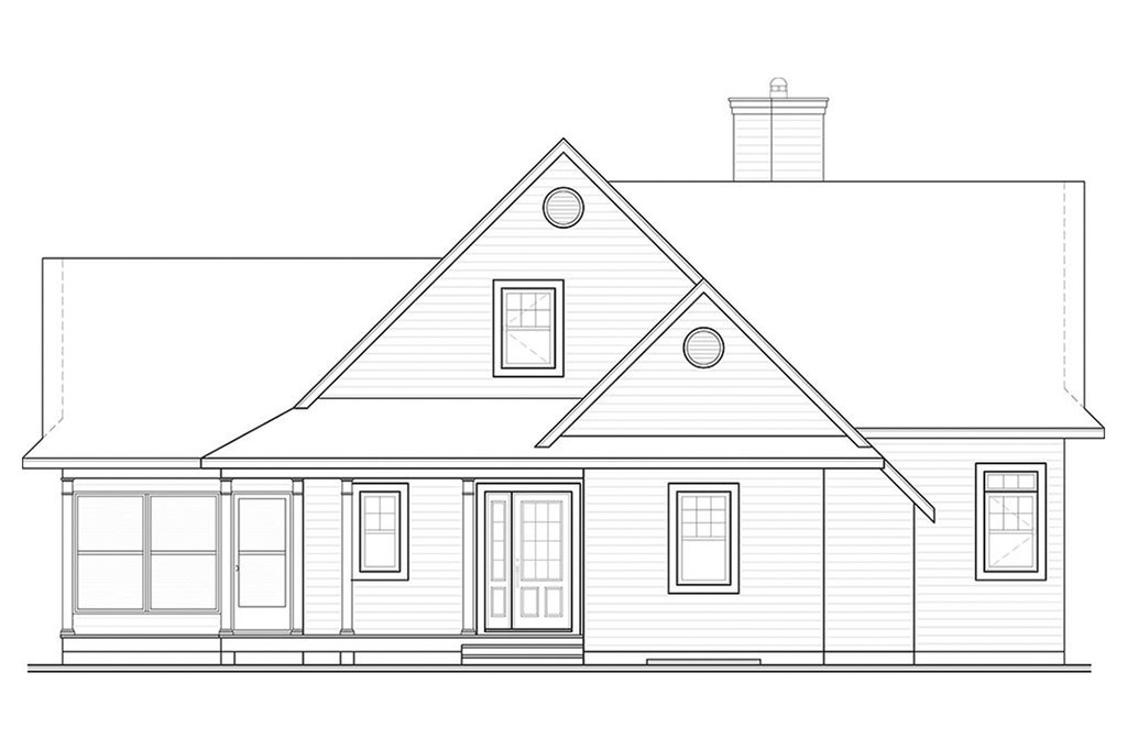 contemporary style house plan  ft