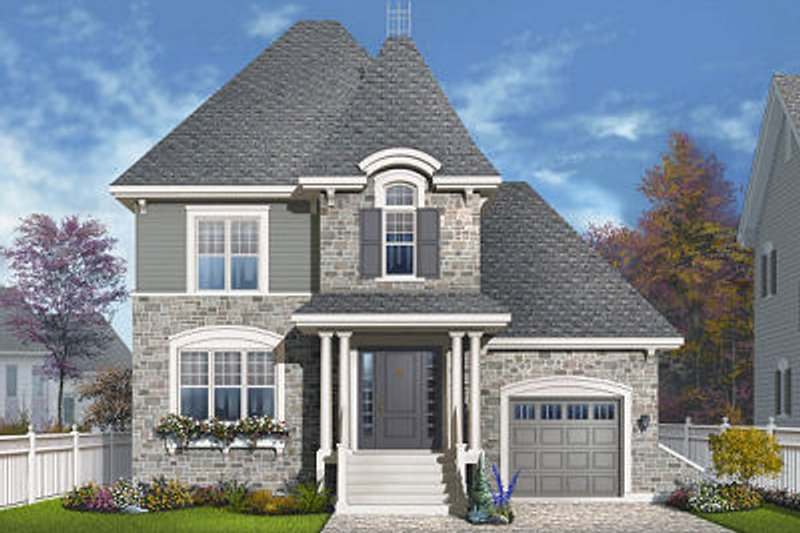 Dream House Plan - European Exterior - Front Elevation Plan #23-818