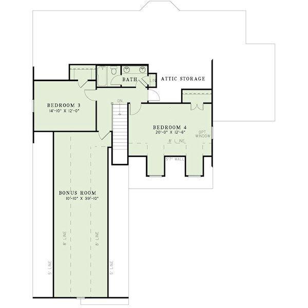 Craftsman Floor Plan - Upper Floor Plan Plan #17-2413