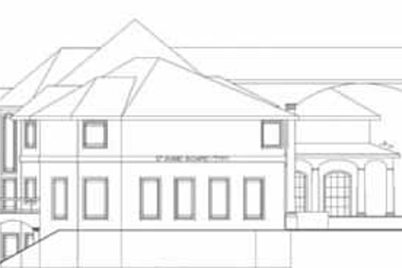 Classical Exterior - Rear Elevation Plan #117-146 - Houseplans.com