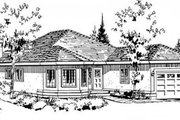 Traditional Style House Plan - 2 Beds 2 Baths 1390 Sq/Ft Plan #18-9057 Exterior - Front Elevation