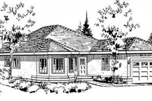 Traditional Exterior - Front Elevation Plan #18-9057