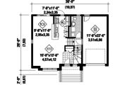 Contemporary Style House Plan - 3 Beds 1 Baths 1461 Sq/Ft Plan #25-4289 Floor Plan - Main Floor Plan