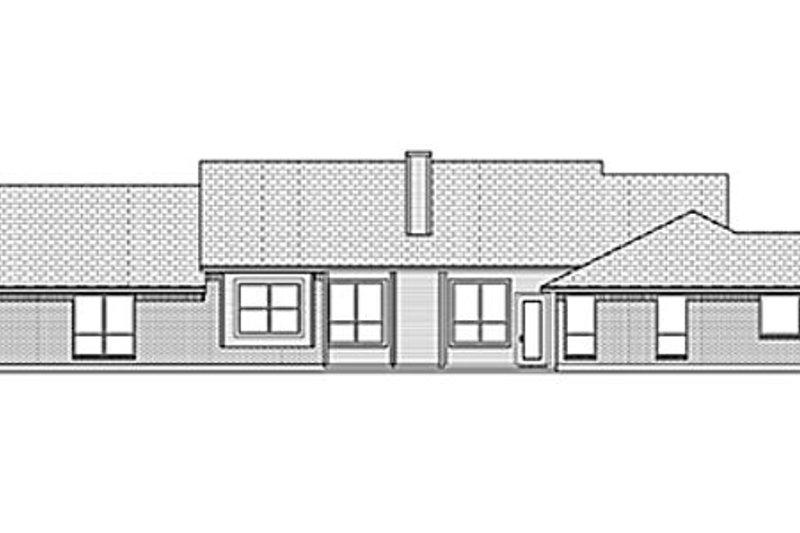 Ranch Exterior - Rear Elevation Plan #84-459 - Houseplans.com