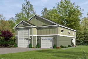 Country Exterior - Front Elevation Plan #932-161