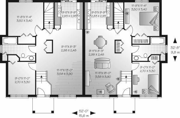 Colonial Floor Plan - Main Floor Plan Plan #23-678