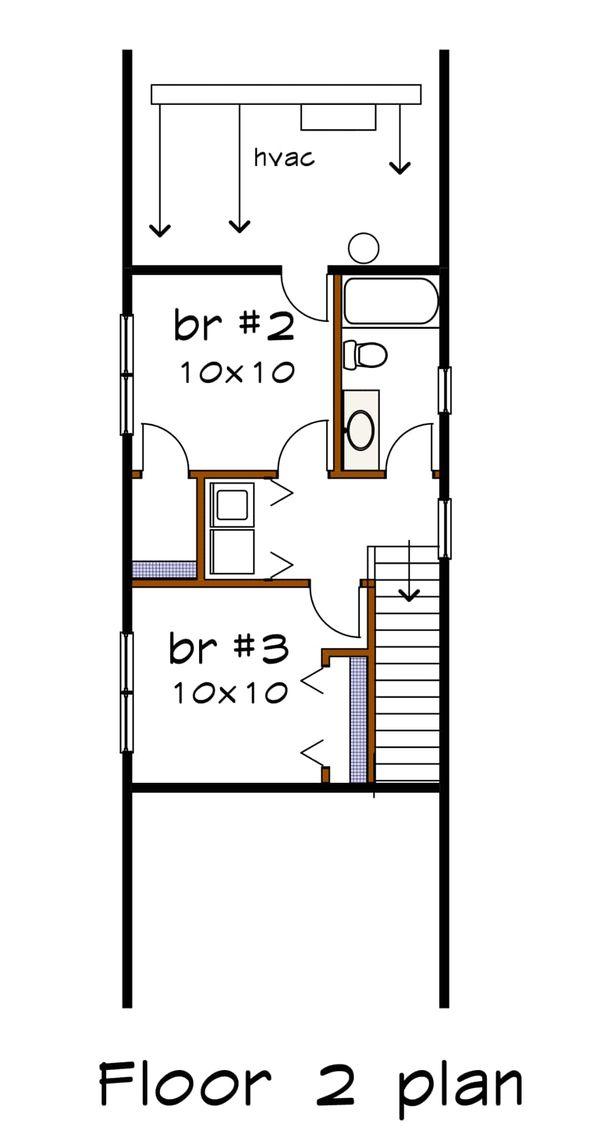 Bungalow Floor Plan - Upper Floor Plan #79-312