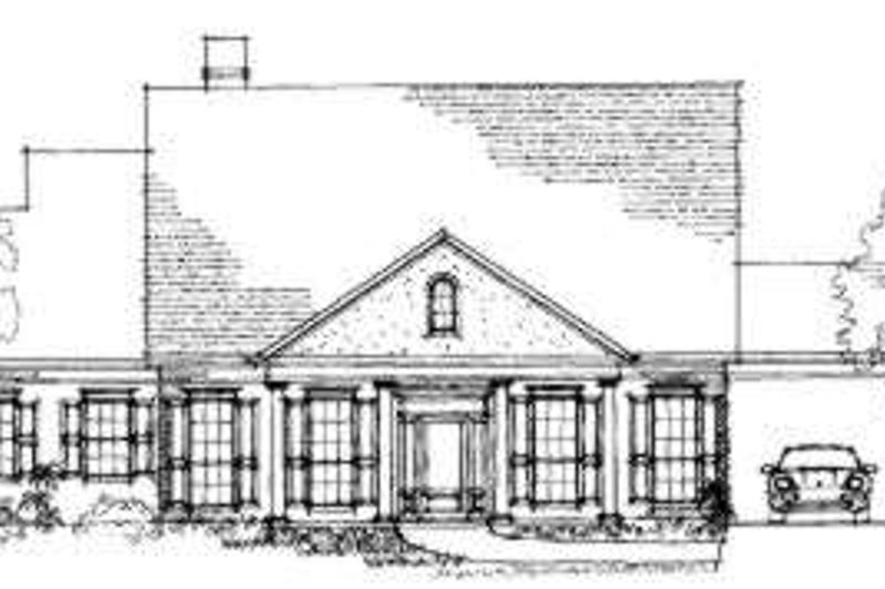 Southern Style House Plan - 4 Beds 2.5 Baths 3085 Sq/Ft Plan #325-106 Exterior - Front Elevation
